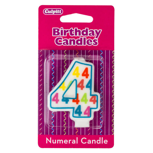 A Birthday Place - Cake Toppers - Number '4' Pattern Numeral Candles