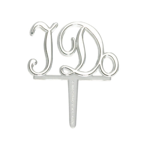 A Birthday Place - Cake Toppers - I Do Silver DecoPics®