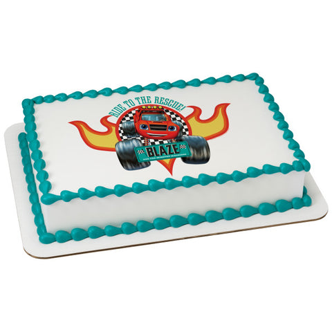 Blaze and the Monster Machines™ Ride to the Rescue! Edible Cake Topper Image