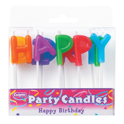 A Birthday Place - Cake Toppers - Happy Birthday Letter Candles