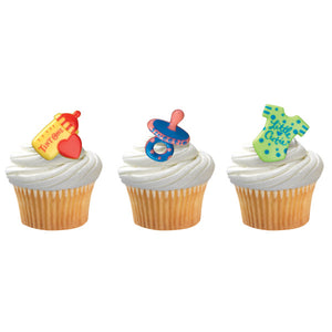 A Birthday Place - Cake Toppers - Baby Symbols Cupcake Rings