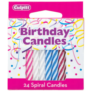 "A Birthday Place - Cake Toppers - Spiral Candles - 2 ½"" Candles"