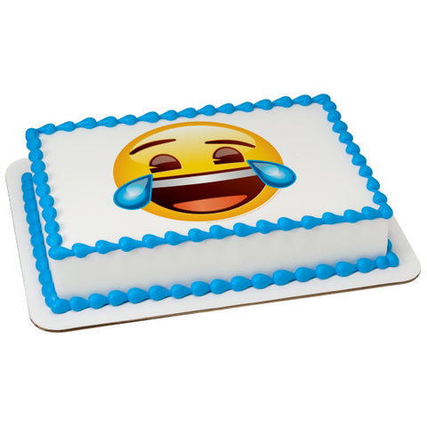 A Birthday Place - Cake Toppers - Emoji Tears of Joy Edible Cake Topper Image