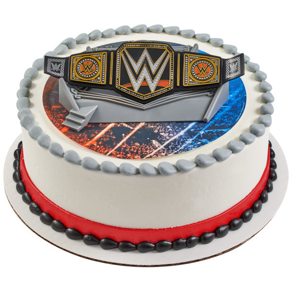 WWE™ Championship Ring Edible Cake Topper Image DecoSet® Background