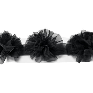 Black Tulle Pom Pom Wrap Special Occasion Decoration