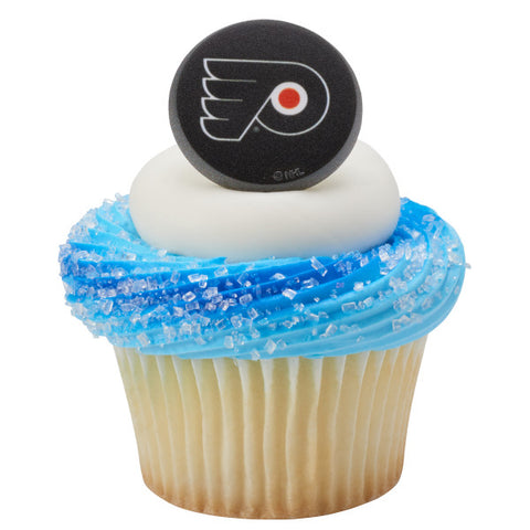 NHL® Puck Team Logo Cupcake Rings