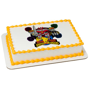 A Birthday Place - Cake Toppers - Power Rangers Go Go Power Rangers! Edible Cake Topper Image