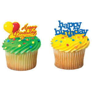 A Birthday Place - Cake Toppers - Happy Birthday Assorted DecoPics®