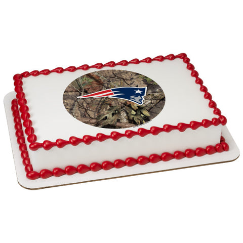 NFL New England Patriots Mossy Oak® Edible Cake Topper Image