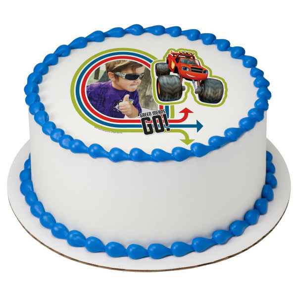 Blaze and the Monster Machines™ Green Means Go! Edible Cake Topper Image Frame
