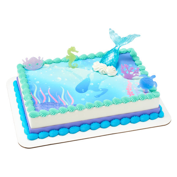 Mystical Mermaid Edible Cake Topper Image DecoSet® Background