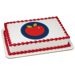 A Birthday Place - Cake Toppers - Apple Edible Cake Topper Image