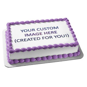 Custom Created Edible Cake Topper Image