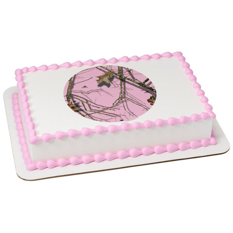 Mossy Oak® Break-Up Pink Silhouette Edible Cake Topper Image