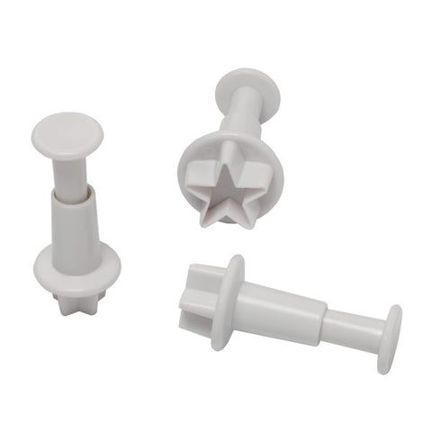 Star Plunger, 3 Piece Set Cutters/Molds