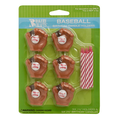 A Birthday Place - Cake Toppers - Baseball Candles