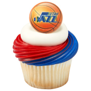 NBA Utah Jazz Team Basketball Cupcake Rings