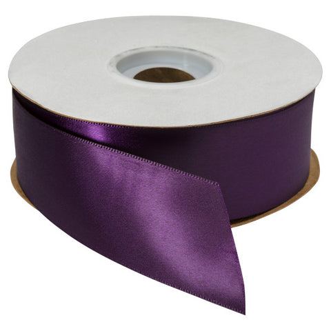 "Plum Single-Faced Satin 1.5"" x 50 yards Ribbon"