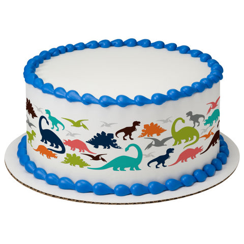 A Birthday Place - Cake Toppers - Dinosaur Edible Cake Topper Image Strips