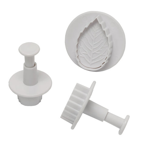 Leaf Plunger, 3 Piece Set Cutters/Molds