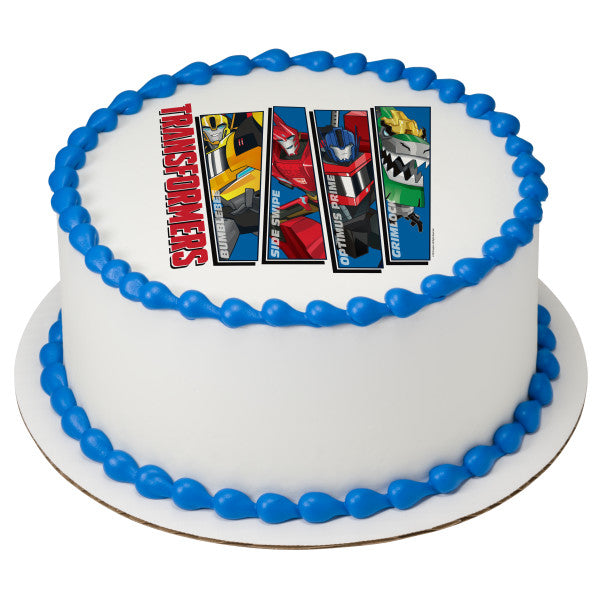 Transformers One Team Mission Edible Cake Topper Image A Birthday Place