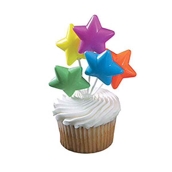 A Birthday Place - Cake Toppers - Brights Star Shaped Balloon Cluster DecoPics®