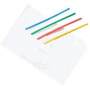 "Clear Treat Bags with Primary Color Twist Ties, 4"" x 6"" Decorating Tools"