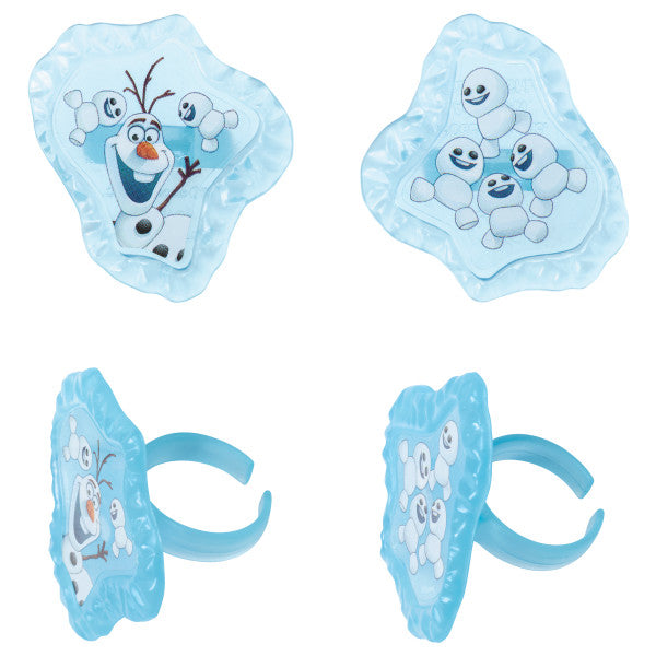 Frozen Fever Blizzard Buddy Olaf Cupcake Rings