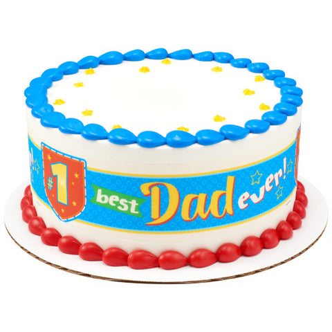#1 Best Dad Ever! Edible Cake Topper Image Strips
