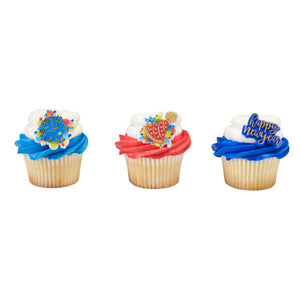 A Birthday Place - Cake Toppers - New Year's Celebration Cupcake Rings