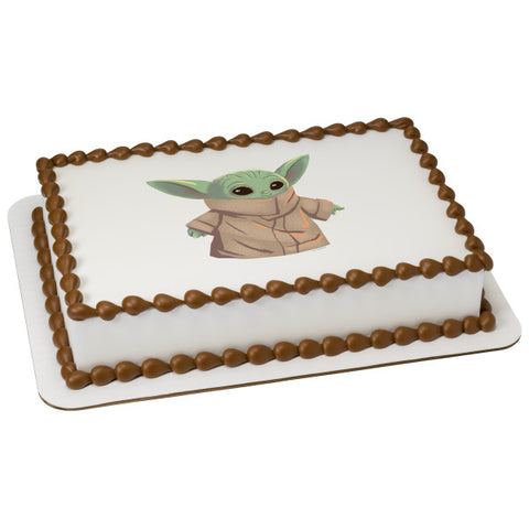 Star Wars™ The Mandalorian The Child Edible Cake Topper Image