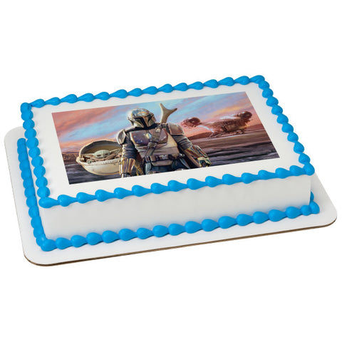 Star Wars™ The Mandalorian The Mandalorian & The Bounty Edible Cake Topper Image