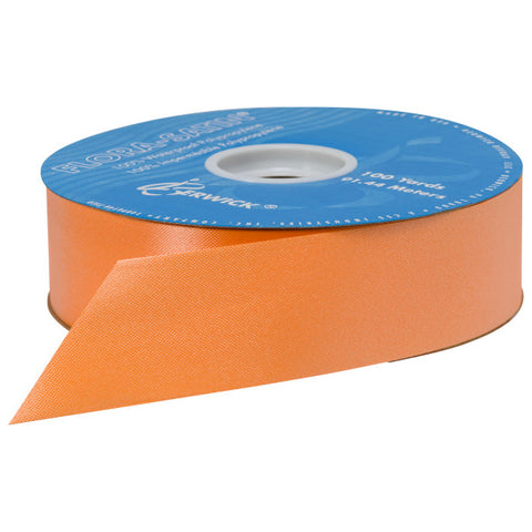"Orange Flora Satin 1.44"" x 100 yards Ribbon"