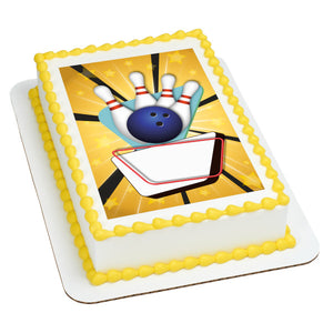 A Birthday Place - Cake Toppers - Bowling Edible Cake Topper Image