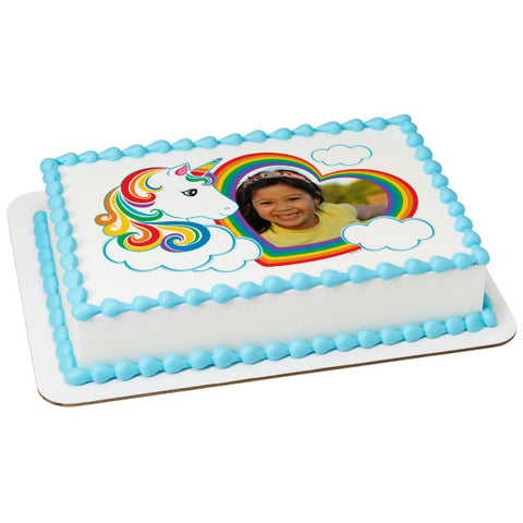 Magical Unicorn Edible Caker Topper Frame