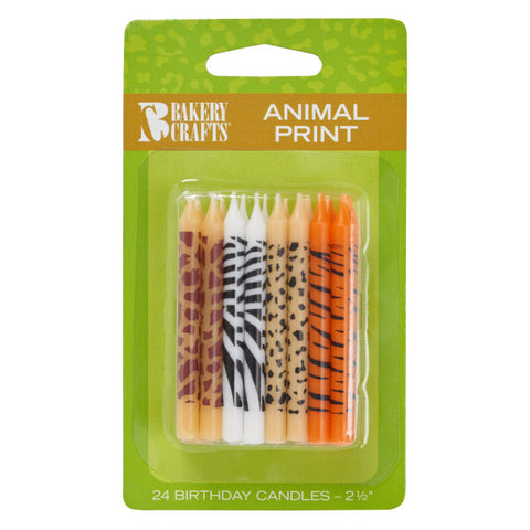 A Birthday Place - Cake Toppers - Bakery Crafts Animal Print Candles