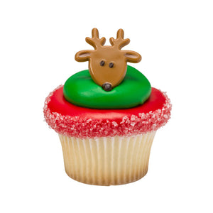 A Birthday Place - Cake Toppers - Reindeer Face Cupcake Rings