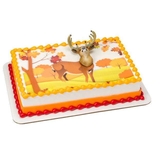 Deer Head Magnet Edible Cake Topper Image DecoSet® Background