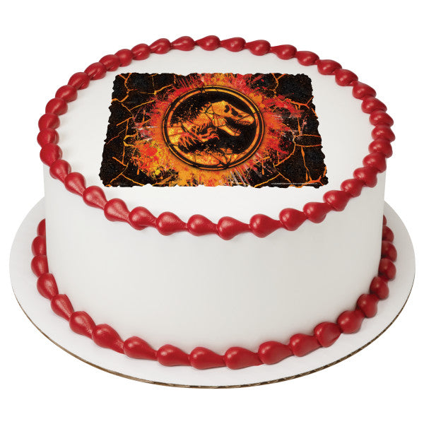 Jurassic World™ Fallen Kingdom Molten Edible Cake Topper Image