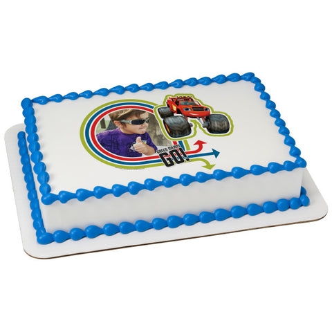 Blaze-Green Means Go! Edible Caker Topper Frame