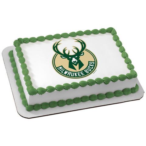 NBA Milwaukee Bucks Edible Cake Topper Image