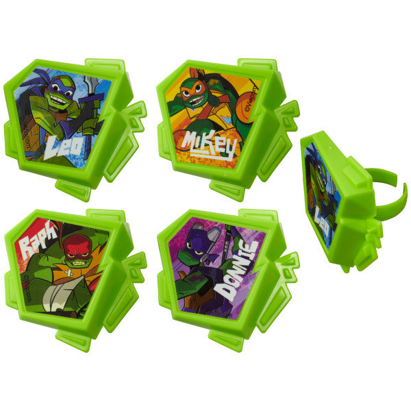 Rise of The Teenage Mutant Ninja Turtles™  Cupcake Rings