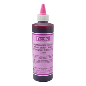 DecoPac Neon Pink Premium Gel Color