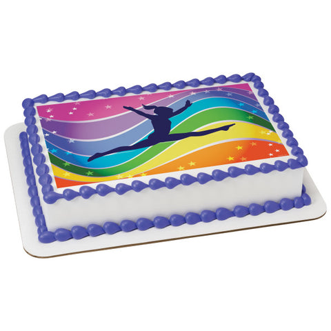 A Birthday Place - Cake Toppers - Gymnastics Edible Cake Topper Image