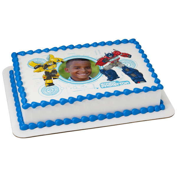 Transformers Defend Until The End Edible Cake Topper Frame A Birthday Place