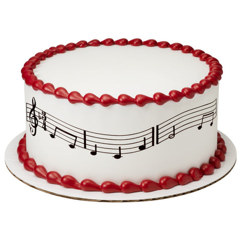 Music Notes Variety Edible Cake Topper Image Strips