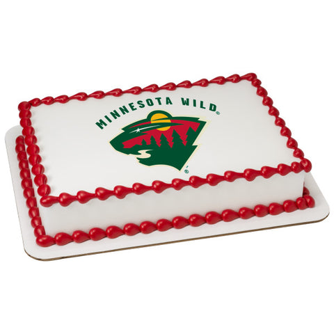 NHL® Minnesota Wild Team Edible Cake Topper Image