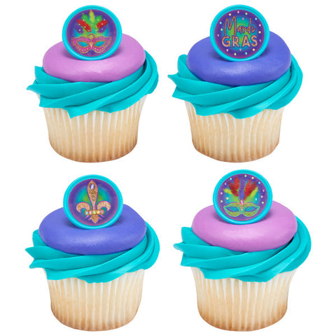 Mardi Gras Celebration Cupcake Rings
