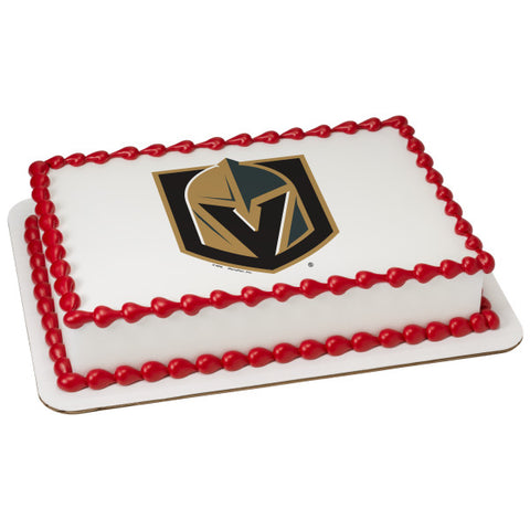 NHL® Vegas Golden Knights Team Edible Cake Topper Image