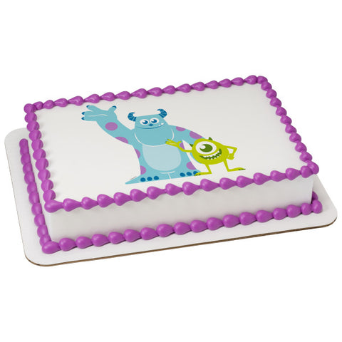 Monsters Inc-Mike and Sully Edible Cake Topper Image
